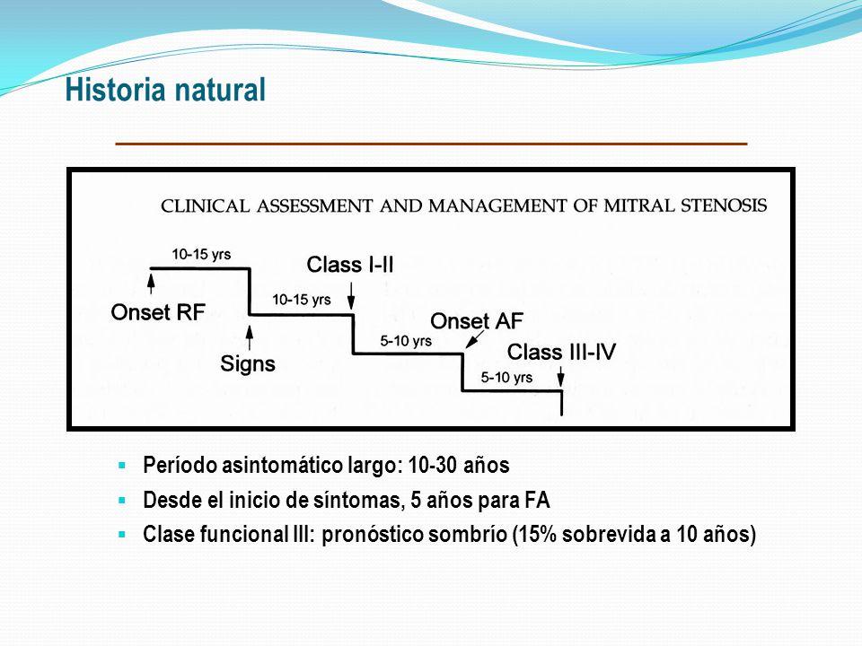 ESTENOSIS MITRAL > presión AI- dilatación AI- Venas pulmonares y capilares- Edema intersticial. Disminución progresiva O2 alveolocapilar Incremento pr