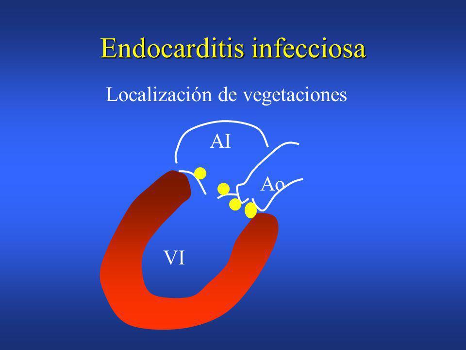 Endocarditis infecciosa Carácter multisistémicoCarácter multisistémico –infección valvular –embolización –bacteriemia-infección metastásica –manifestaciones inmunológicas Mnifestaciones clínicas generales