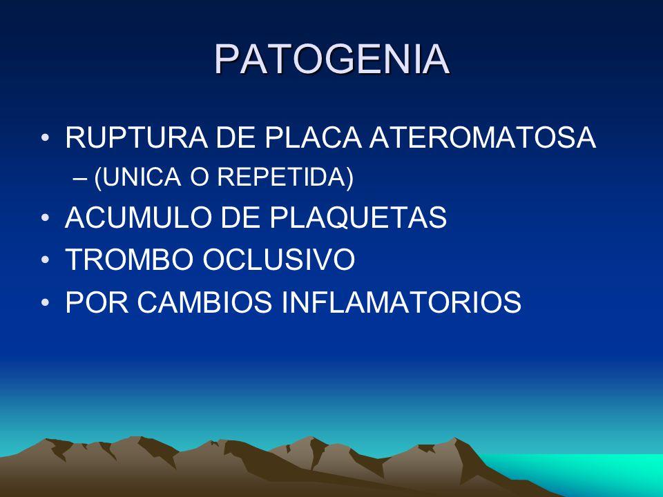ATEROTROMBOSIS PROCESO DE LUCHA (MEC.