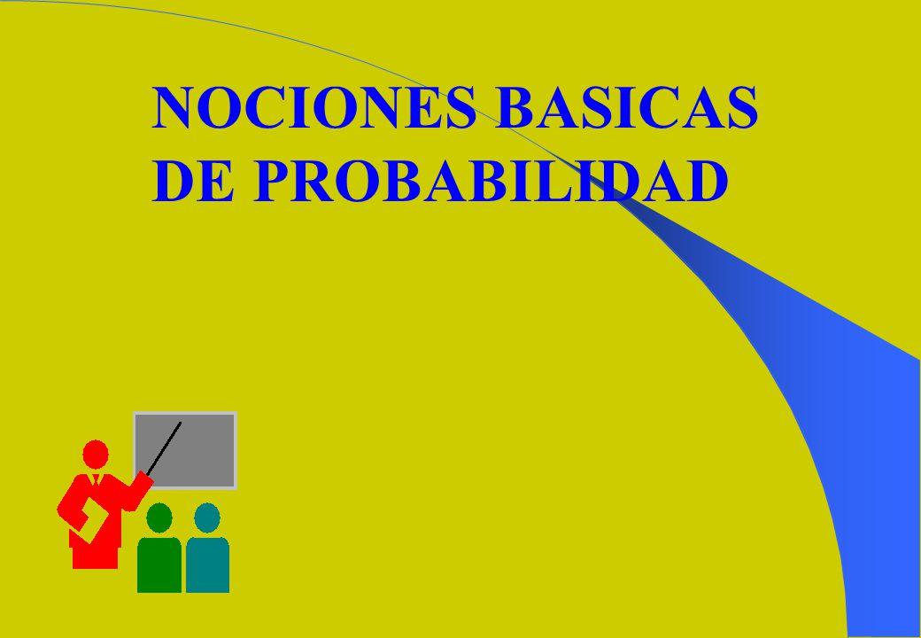 NOCIONES BASICAS DE PROBABILIDAD