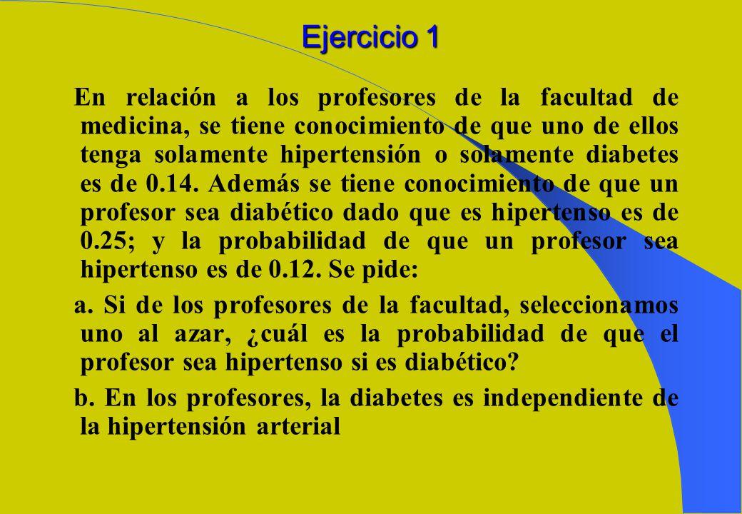 Independencia de eventos Sean los eventos A y B definidos en. Si P(A/B)=P(A), entonces A es independiente de B Si P(B/A)=P(B), entonces B es independi