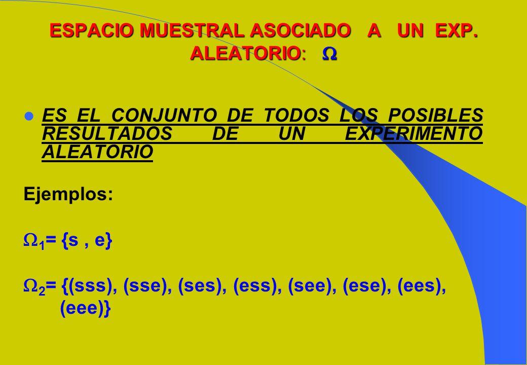 _ 4.- Si A y A son complementarios, entonces, _ _ P( A) = 1 - P(A) ó P(A) = 1 - P( A) _A_A A