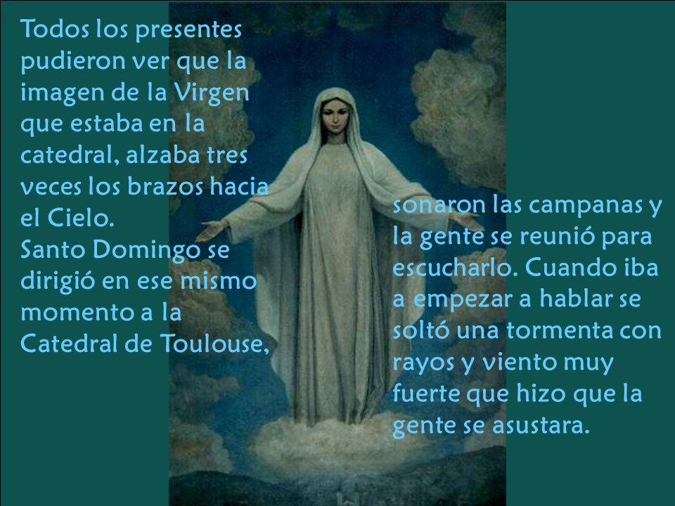 Fue entonces cuando el Fraile Alan de la Roche, superior de los dominicos de Francia, tuvo una aparición, en la cual Jesús, la Virgen y Santo Domingo, le pidieron que reviviera la antigua costumbre del rezo del Santo Rosario.