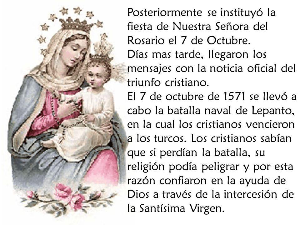 El Rosario es un verdadera fuente de gracias.María es medianera de las gracias de Dios.