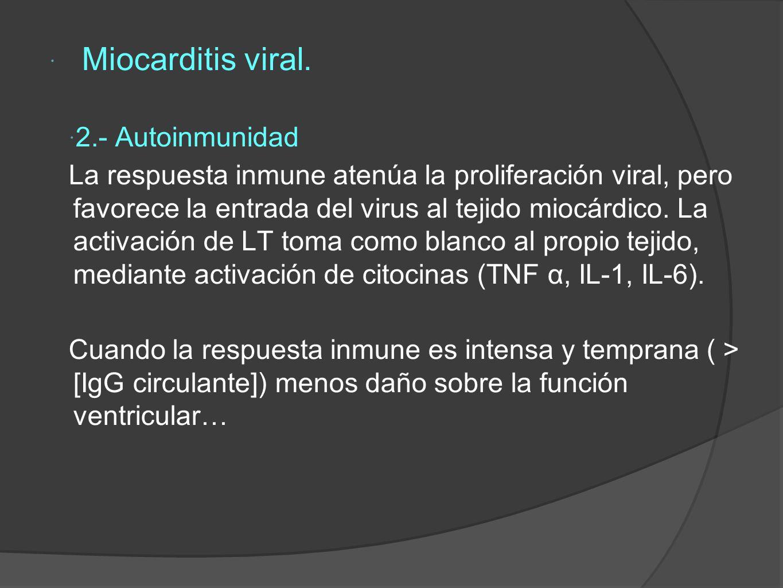 Miocarditis viral.