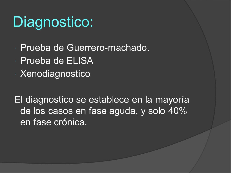 Diagnostico: Prueba de Guerrero-machado.