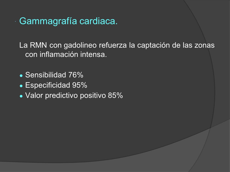 Gammagrafía cardiaca.