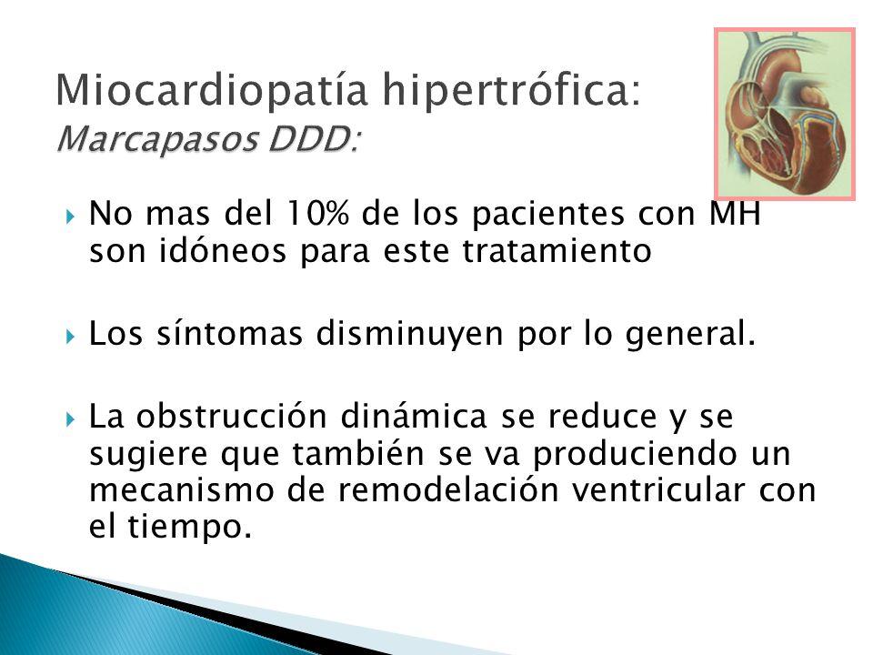 No mas del 10% de los pacientes con MH son idóneos para este tratamiento Los síntomas disminuyen por lo general.