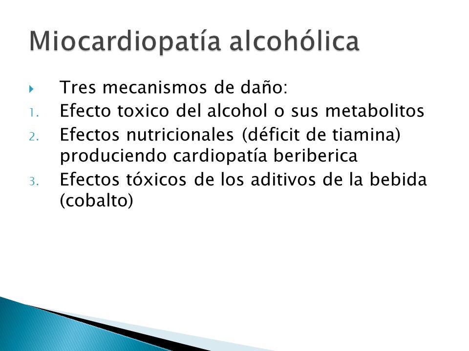 Tres mecanismos de daño: 1.Efecto toxico del alcohol o sus metabolitos 2.