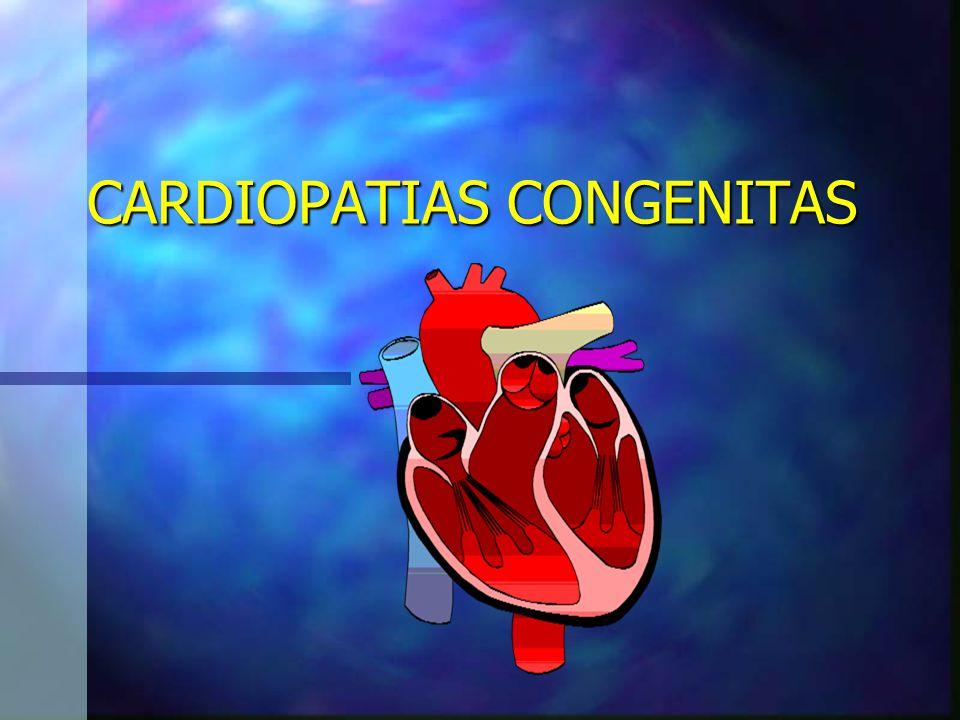 DIAGNOSTICO n Rx: vent y auric der - art pulmunar grande - vascularización pulm aumentada n EKG:- eje desviado ala der - depresión del seg ST con onda T bifasica V 1 -V 4 (x sobrecarga vent) bifasica V 1 -V 4 (x sobrecarga vent)