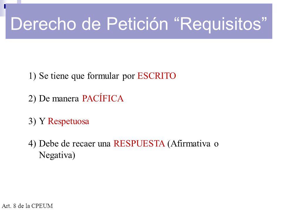 Plazo para la Resolución de Peticiones a la Autoridad Fiscal Art.