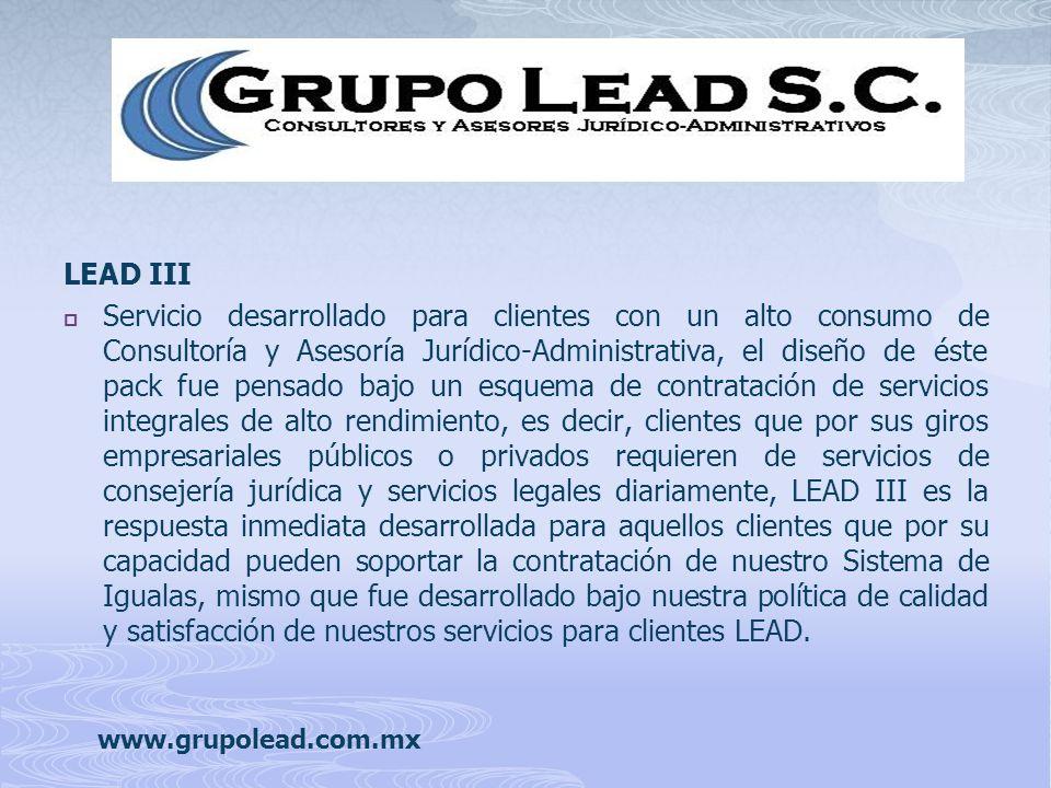 Servicio desarrollado para clientes con un alto consumo de Consultoría y Asesoría Jurídico-Administrativa, el diseño de éste pack fue pensado bajo un