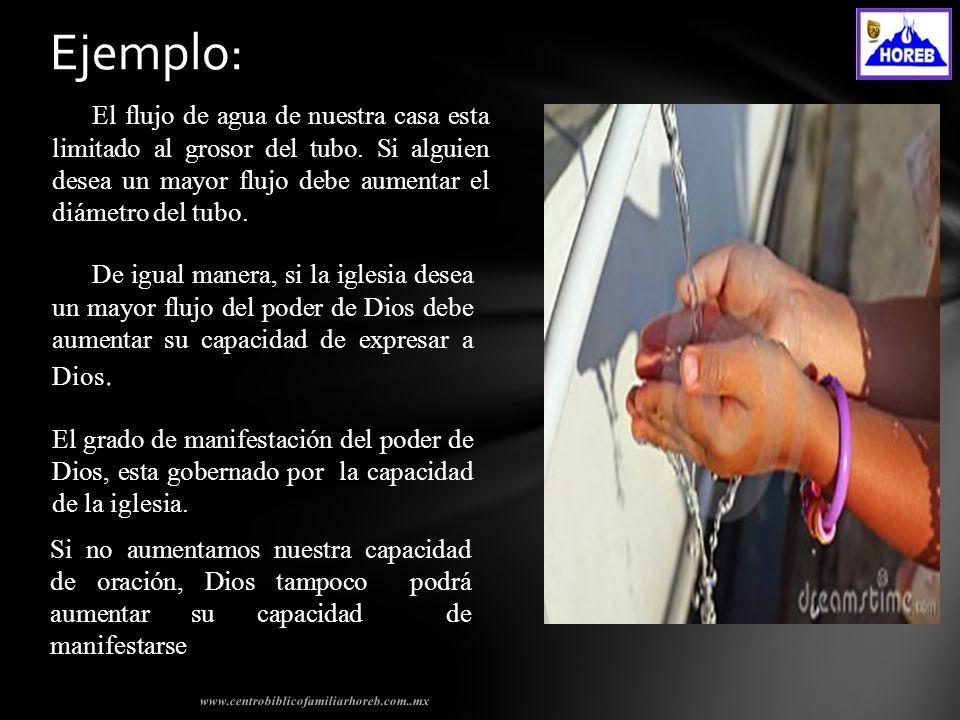 www.centrobiblicofamiliarhoreb.com..mx Ejemplo: El flujo de agua de nuestra casa esta limitado al grosor del tubo.