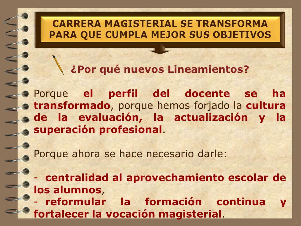 La reforma a los Lineamientos de Carrera Magisterial responde a nuestra demanda de: 1.