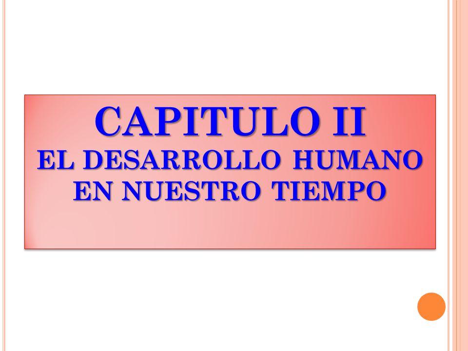 CAPITULO II EL DESARROLLO HUMANO EN NUESTRO TIEMPO CAPITULO II EL DESARROLLO HUMANO EN NUESTRO TIEMPO