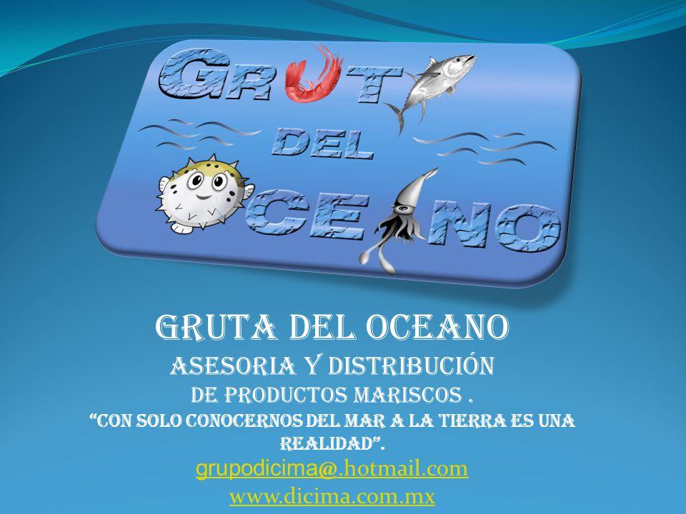GRUTA DEL OCEANO ASESORIA Y distribución de PRODUCTOS mariscos.