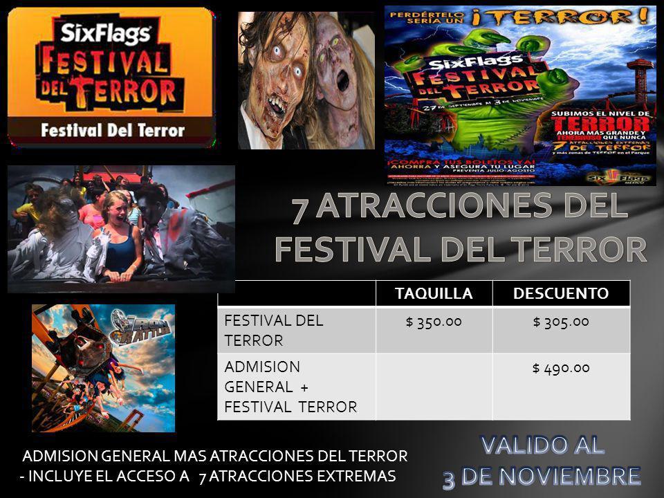 SECCIONTICKET MASTER TAQUILLADESCUENTO PREFERENTE$ 301.00$ 250.00$ 160.00 Descuento NO aplicable en Taquilla