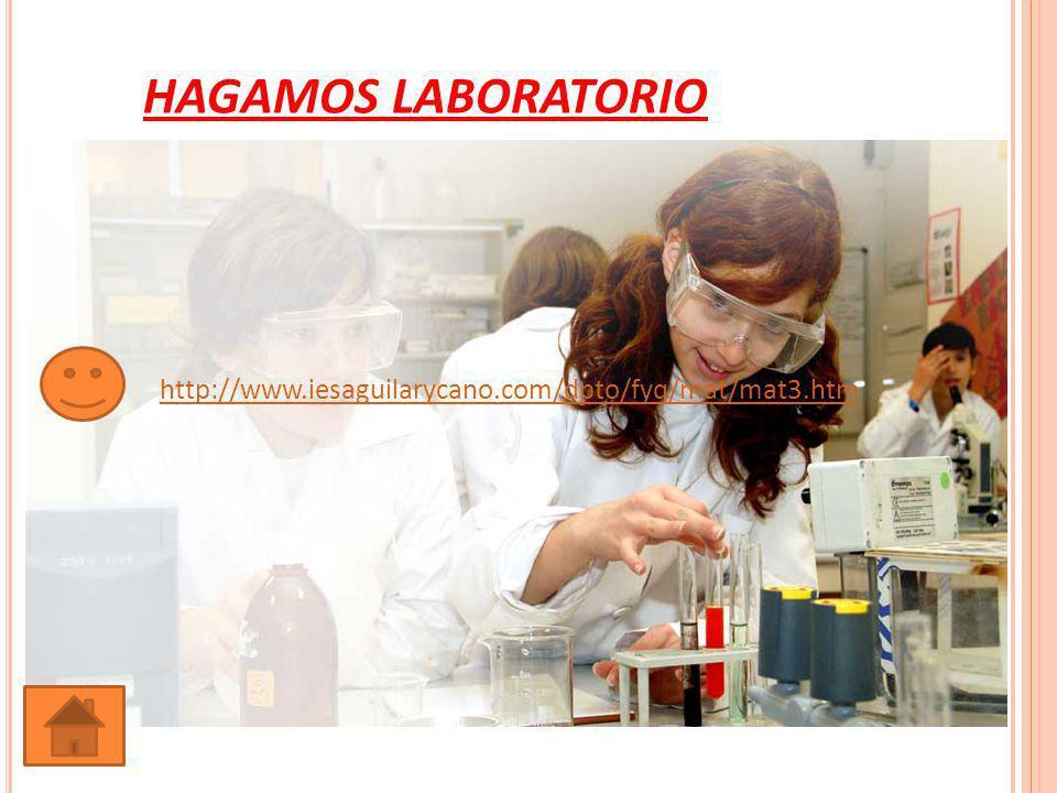 HAGAMOS LABORATORIO http://www.iesaguilarycano.com/dpto/fyq/mat/mat3.htm