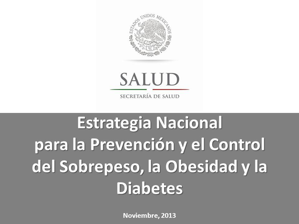 Estrategia Nacional para la Prevención y el Control del Sobrepeso, la Obesidad y la Diabetes Noviembre, 2013