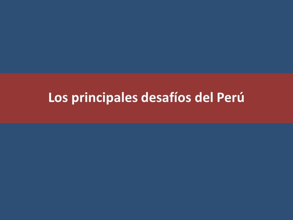 Los principales desafíos del Perú
