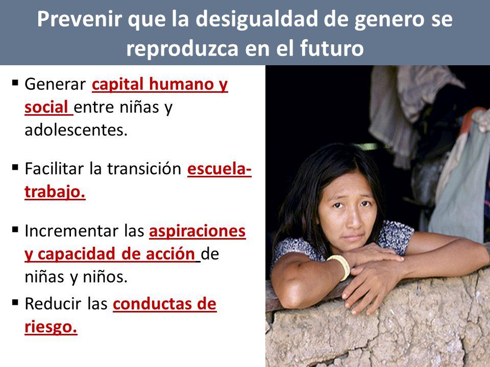 Generar capital humano y social entre niñas y adolescentes.