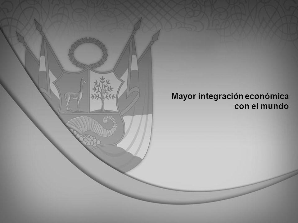 Mayor integración económica con el mundo
