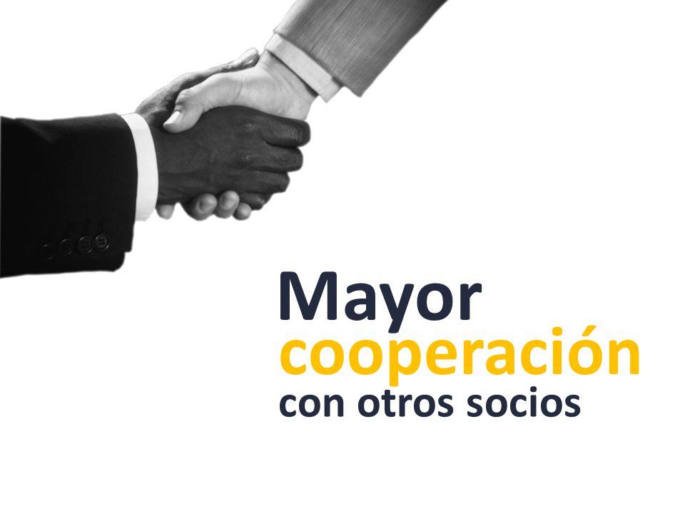 cooperación con otros socios Mayor