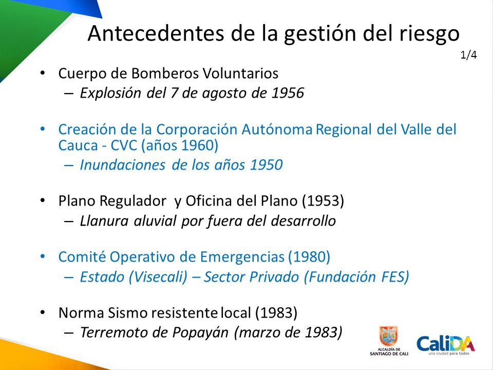 Cuerpo de Bomberos Voluntarios – Explosión del 7 de agosto de 1956 Creación de la Corporación Autónoma Regional del Valle del Cauca - CVC (años 1960)