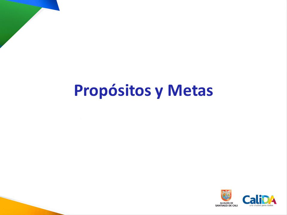 Propósitos y Metas