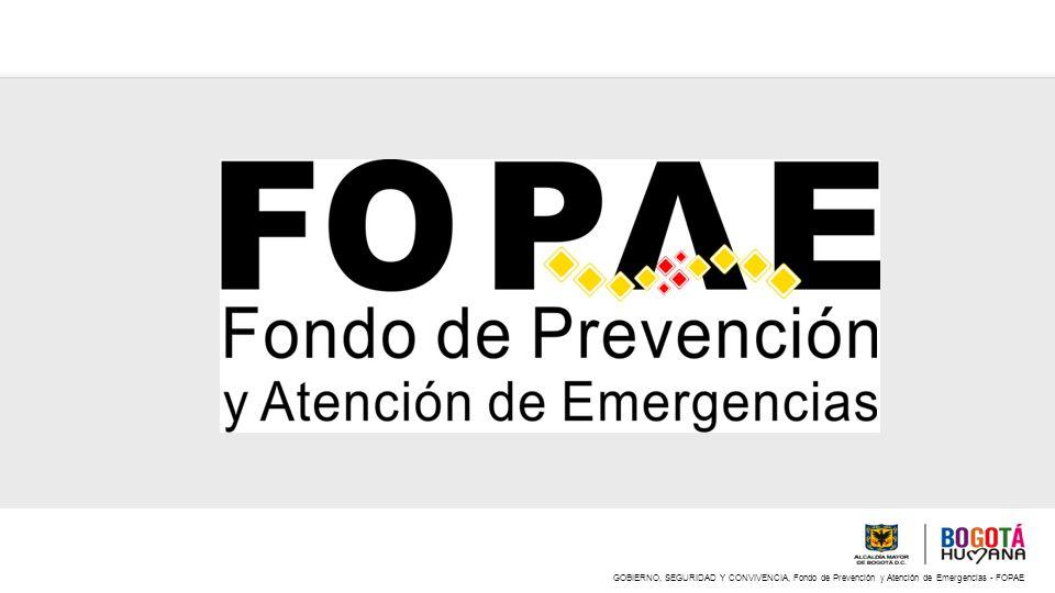 GOBIERNO, SEGURIDAD Y CONVIVENCIA, Fondo de Prevención y Atención de Emergencias - FOPAE 2.