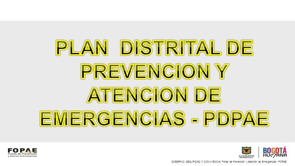 GOBIERNO, SEGURIDAD Y CONVIVENCIA, Fondo de Prevención y Atención de Emergencias - FOPAE