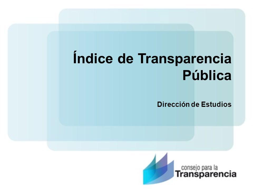 Índice de Transparencia Pública Dirección de Estudios