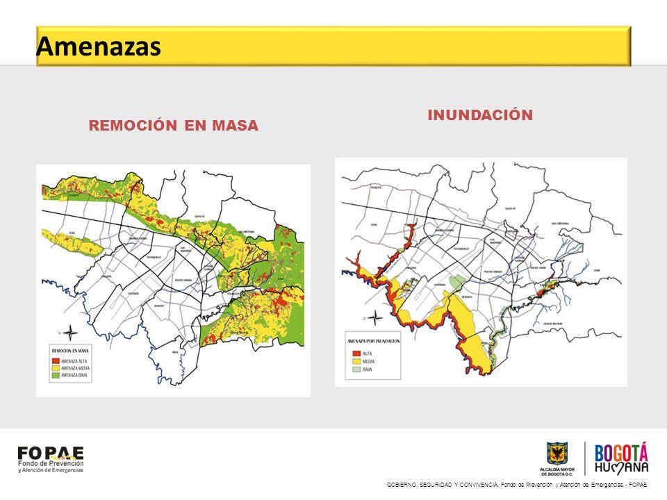 GOBIERNO, SEGURIDAD Y CONVIVENCIA, Fondo de Prevención y Atención de Emergencias - FOPAE Amenaza por INCENDIO FORESTAL RIESGO TECNOLÓGICO Amenazas