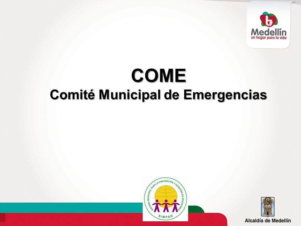 COME Comité Municipal de Emergencias