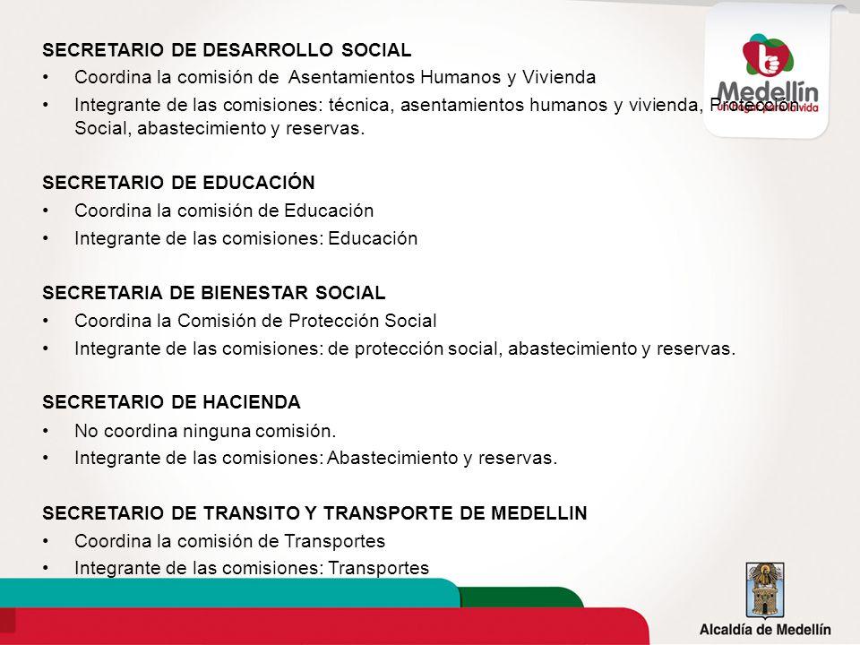 SECRETARIO DE DESARROLLO SOCIAL Coordina la comisión de Asentamientos Humanos y Vivienda Integrante de las comisiones: técnica, asentamientos humanos