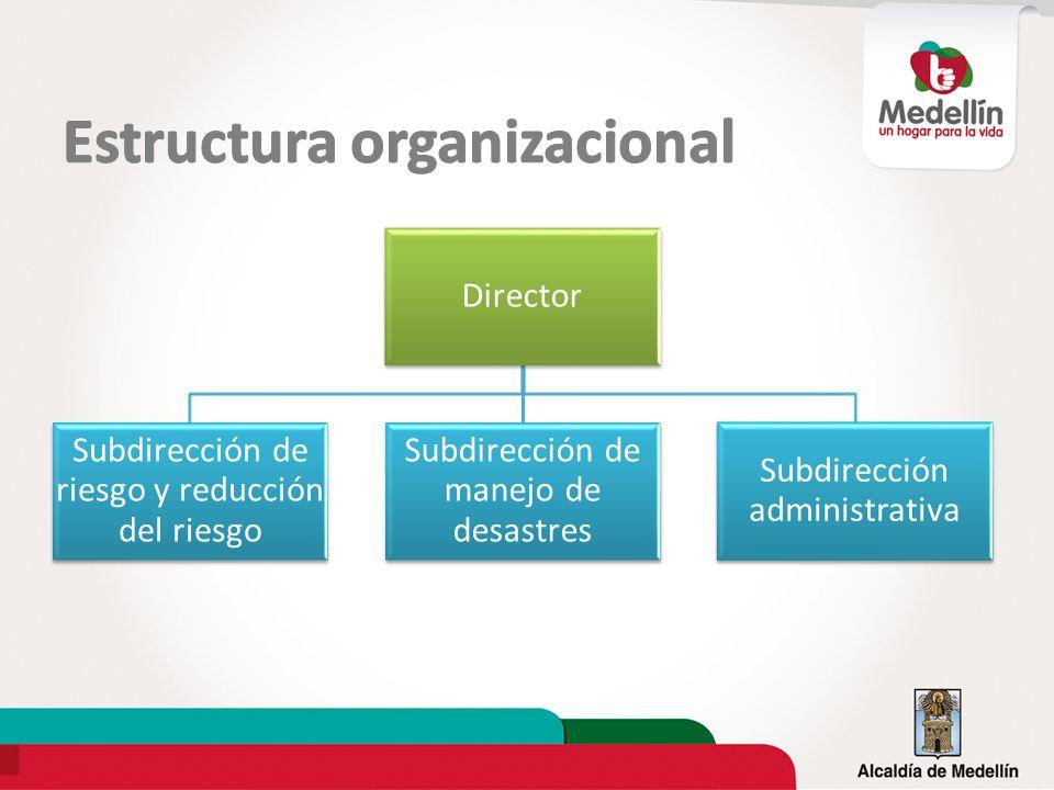 Director Subdirección de riesgo y reducción del riesgo Subdirección de manejo de desastres Subdirección administrativa