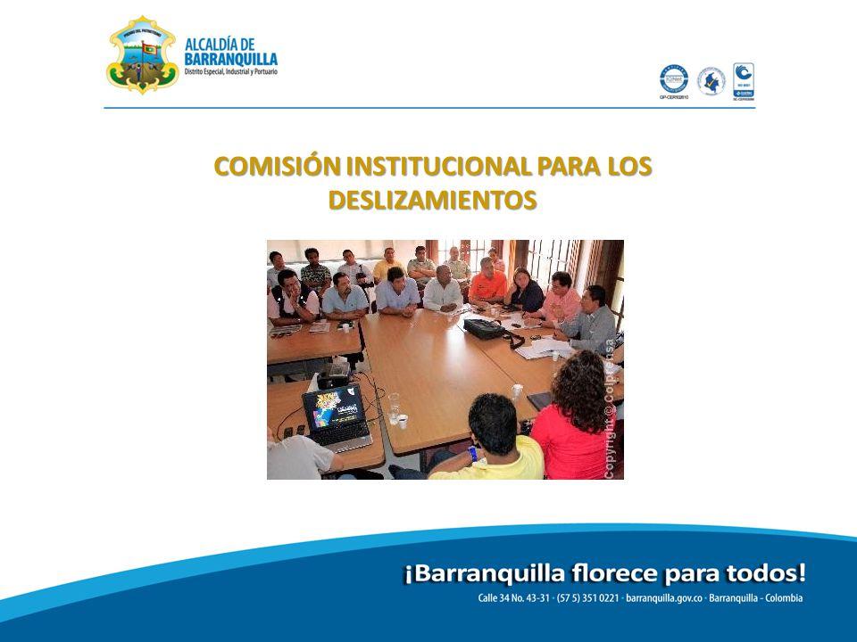 COMISIÓN INSTITUCIONAL PARA LOS DESLIZAMIENTOS