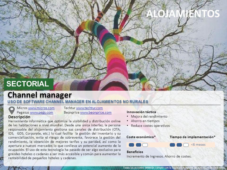 ALOJAMIENTOS SECTORIAL Micros www.micros.comwww.micros.com Pegasus www.pegs.comwww.pegs.com Descripción Herramienta informática que optimiza la visibi