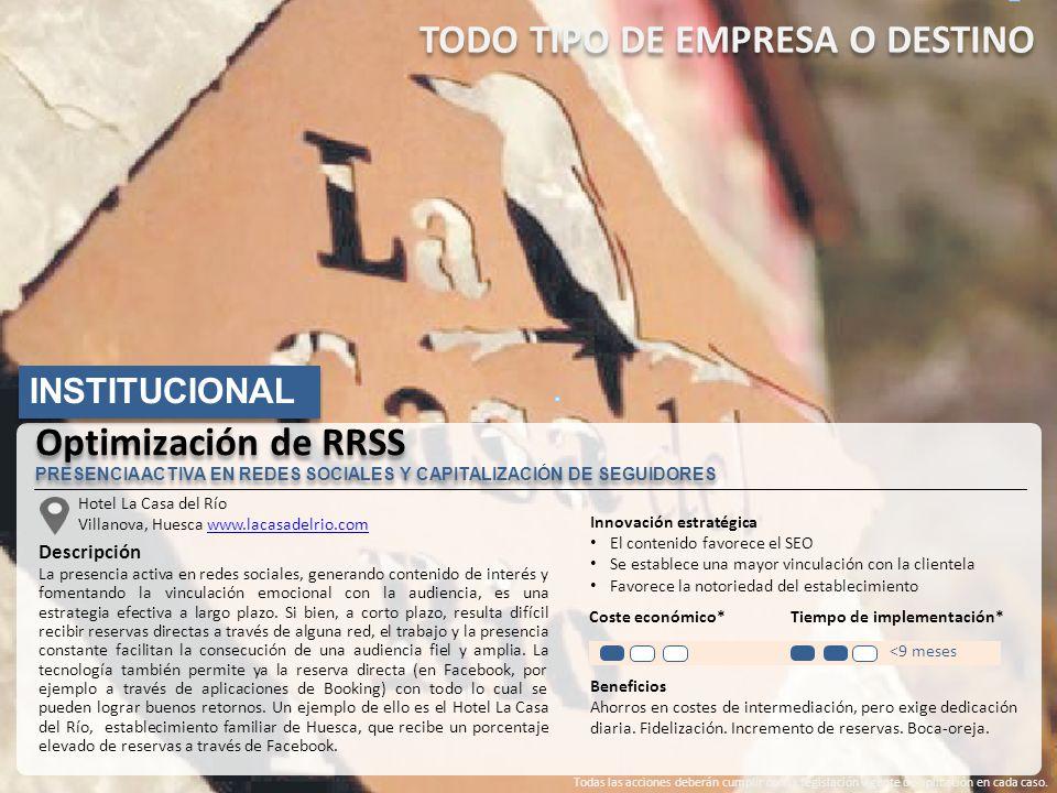 Hotel La Casa del Río Villanova, Huesca www.lacasadelrio.comwww.lacasadelrio.com Descripción La presencia activa en redes sociales, generando contenid