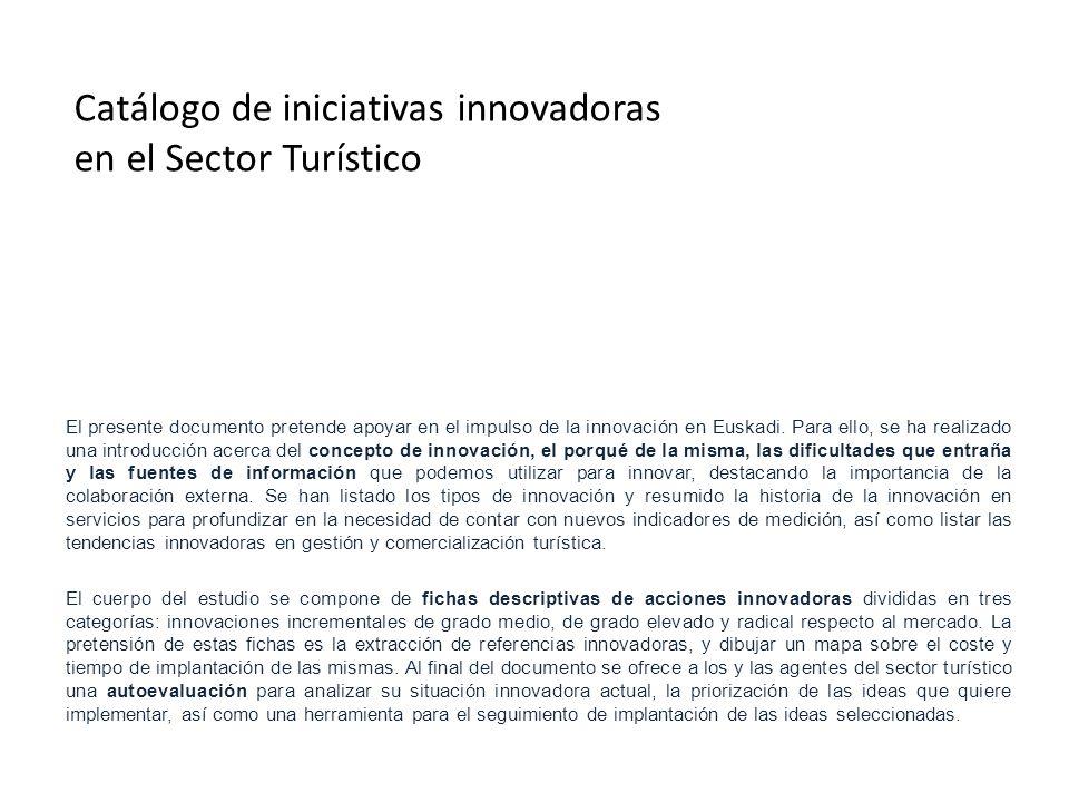 El presente documento pretende apoyar en el impulso de la innovación en Euskadi. Para ello, se ha realizado una introducción acerca del concepto de in