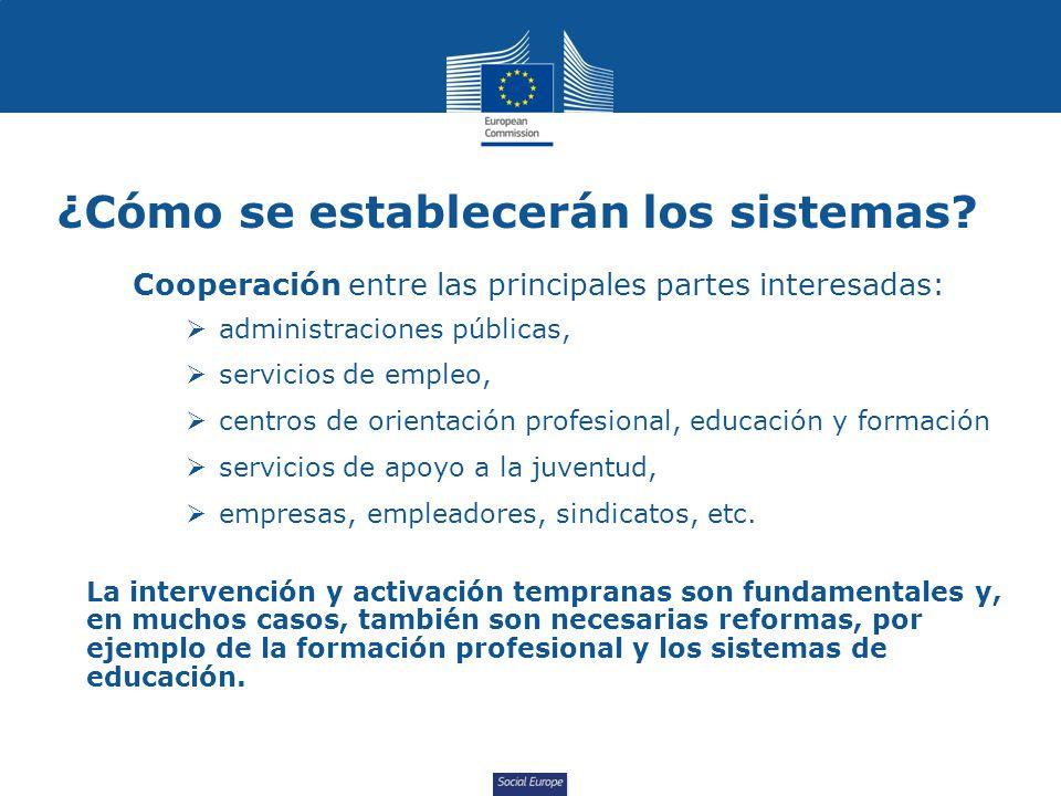 Social Europe ¿Cómo se establecerán los sistemas.