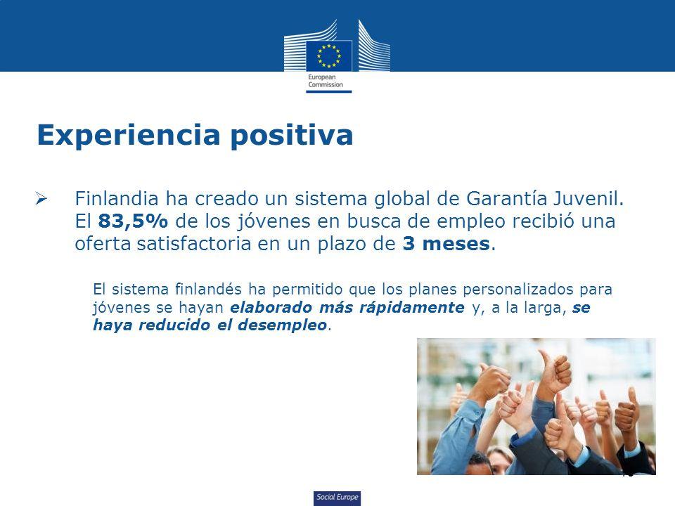 Social Europe Experiencia positiva Finlandia ha creado un sistema global de Garantía Juvenil.