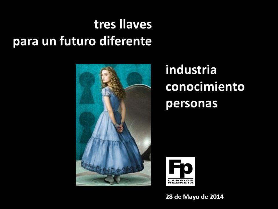 tres llaves para un futuro diferente industria conocimiento personas 28 de Mayo de 2014