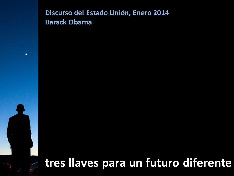 Discurso del Estado Unión, Enero 2014 Barack Obama tres llaves para un futuro diferente