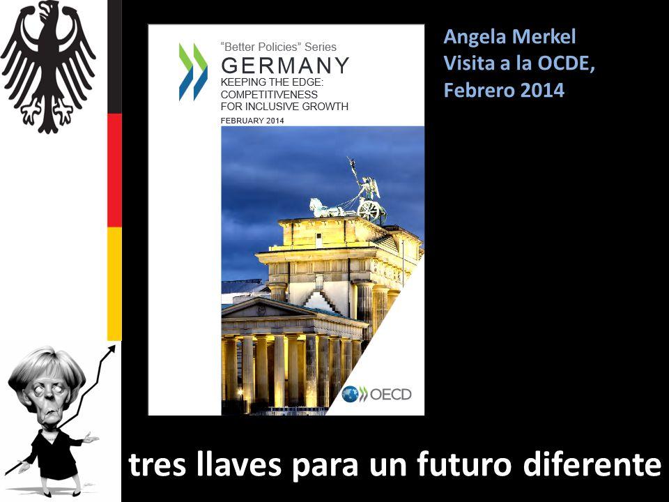 Angela Merkel Visita a la OCDE, Febrero 2014 tres llaves para un futuro diferente
