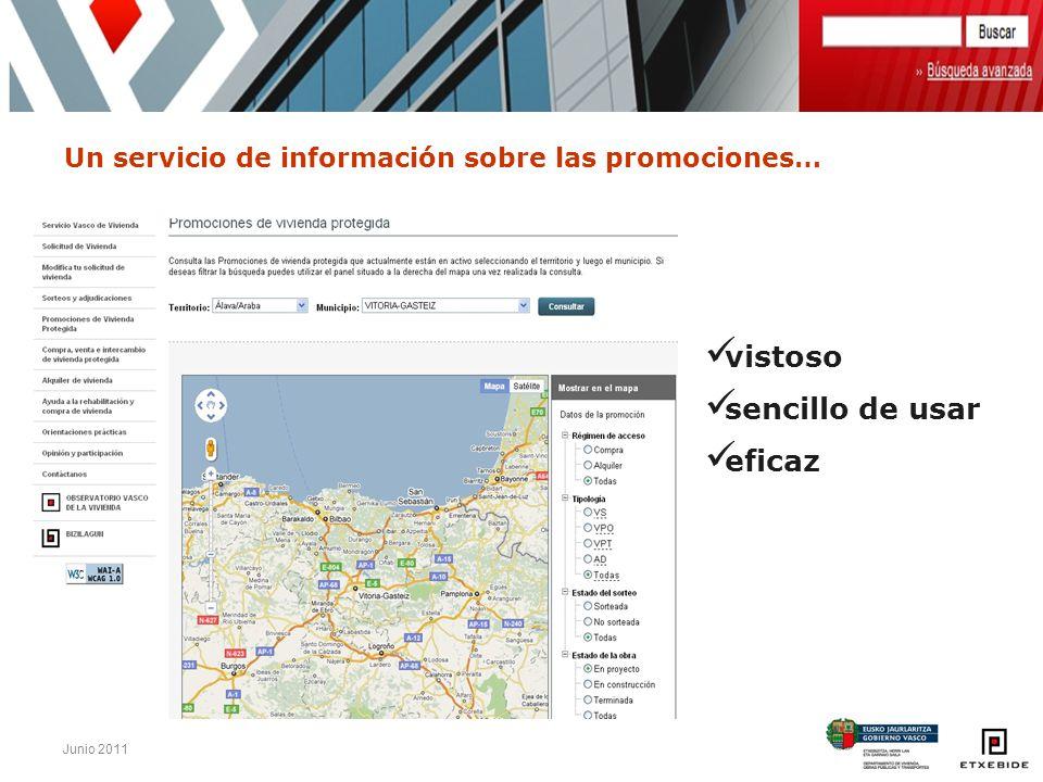 Junio 2011 Un servicio de información sobre las promociones… vistoso sencillo de usar eficaz