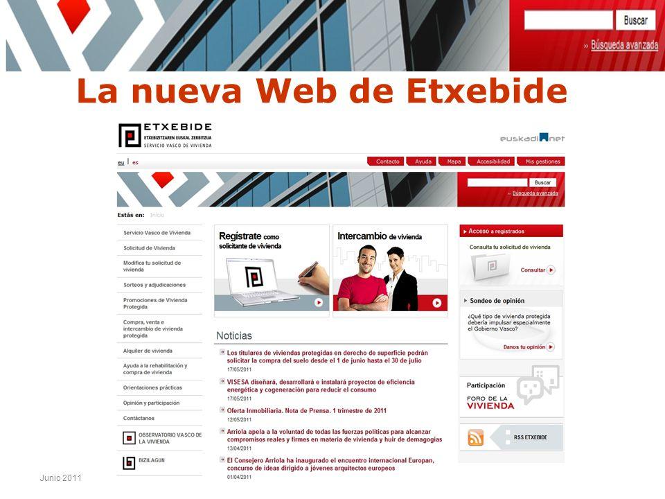Junio 2011 Nueva Web Etxebide La nueva Web de Etxebide