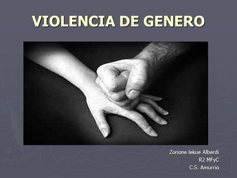 VIOLENCIA DE GENERO Zorione lekue Alberdi R2 MFyC C.S. Amurrio