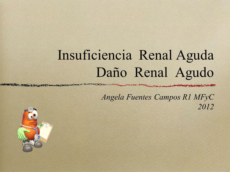Insuficiencia Renal Aguda Daño Renal Agudo Angela Fuentes Campos R1 MFyC 2012