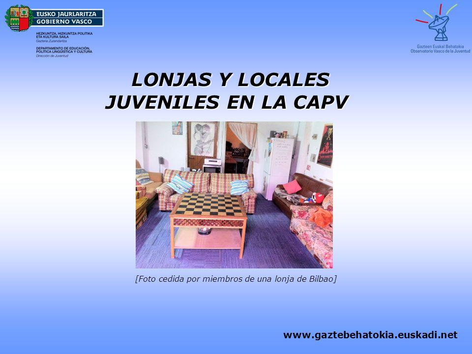 LONJAS Y LOCALES JUVENILES EN LA CAPV LONJAS Y LOCALES JUVENILES EN LA CAPV www.gaztebehatokia.euskadi.net [Foto cedida por miembros de una lonja de B
